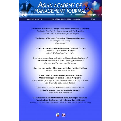 Asian Academy of Management Journal Vol. 24, No. 1 (2019)